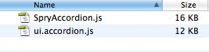 Spry Accordion vs jQuery Accordion