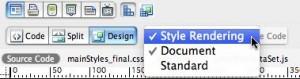Style Rendering Toolbar