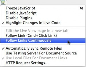 The follow links continuously command