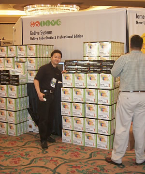 Boxes of Cyberstudio at WWSC