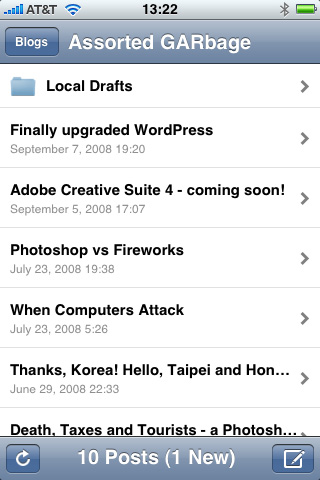 WordPress on the iPhone